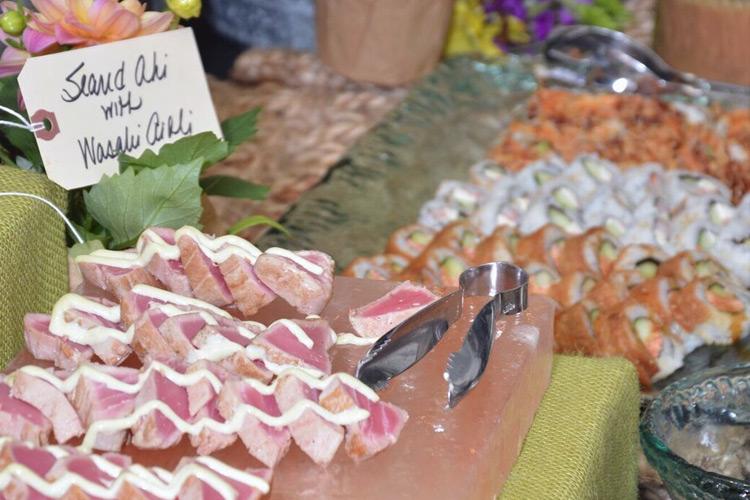 Platter of gala food